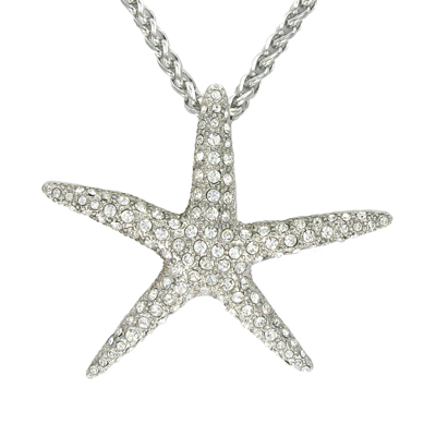 as seen on tv large starfish pendant with swarovski