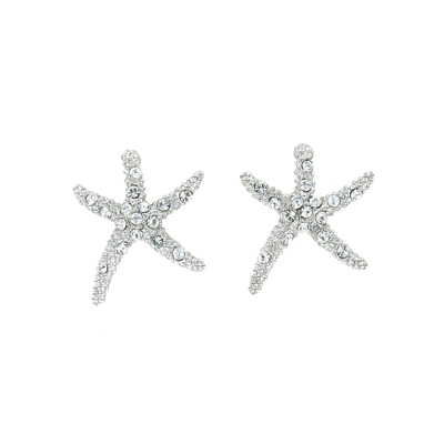 Starfish Earrings With Swarovski Crystals